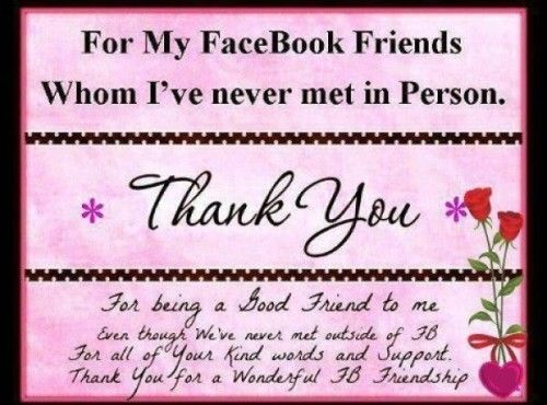 To My Facebook Friends Whom I\'ve Never Met..... Pictures, Photos ...