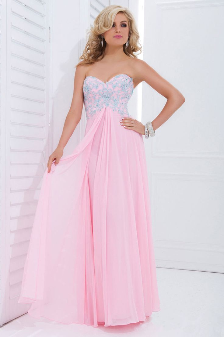 Strapless Soft Pink Gown With Sequin Bodice Pictures, Photos, and ...