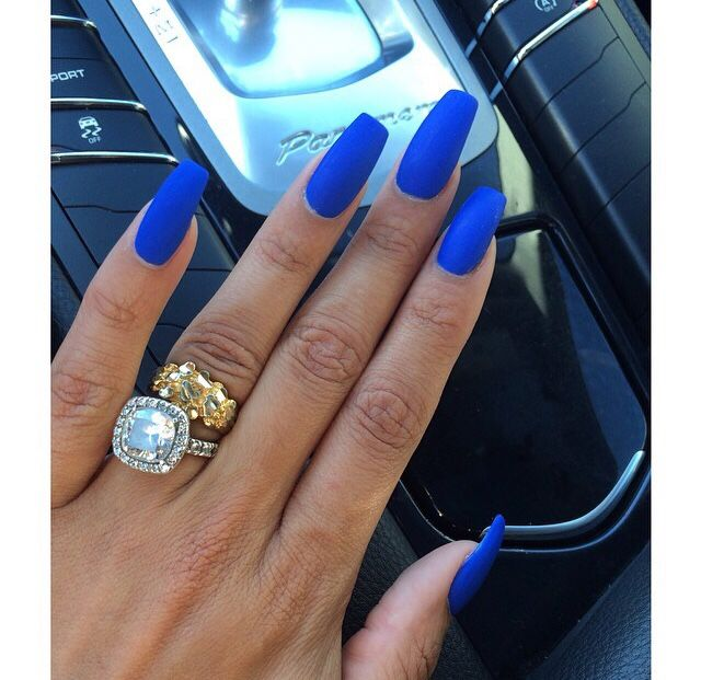 Long Blue Nails Pictures, Photos, and Images for Facebook, Tumblr ...