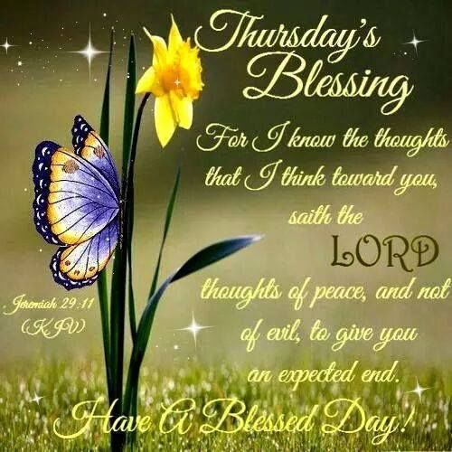 Thursday Blessings With Bible Verse Pictures, Photos, and