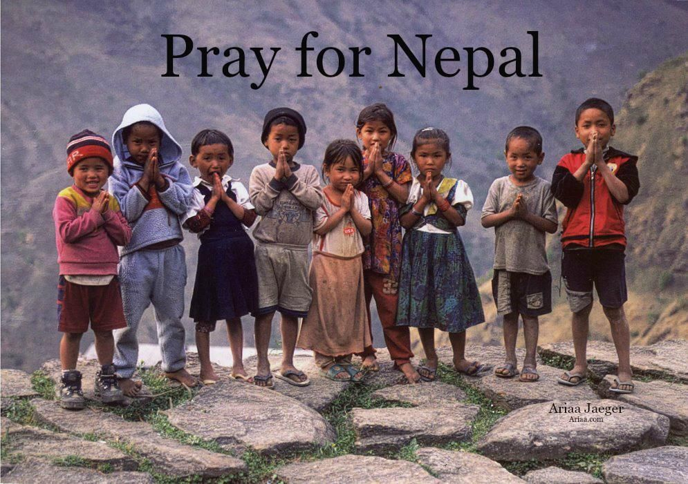 Pray For Nepal Picture... Namaste Child