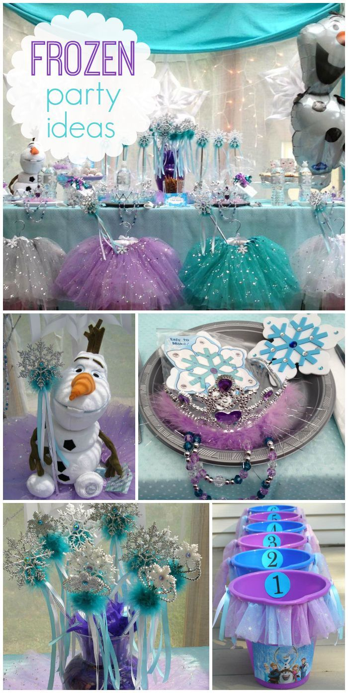 Frozen party ideas on a budget + free printables -perfect for any princess party! Last year my daughter decided she wanted a Frozen party, shocker, right?! Sorry I'm just getting around to posting it. Whoops! We had SO much fun putting everything together for her friends. The little girls all had a blast!