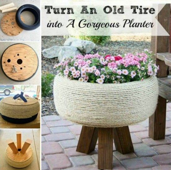 Turn an old tire into a planter pictures photos and - Planters made from old tires ...