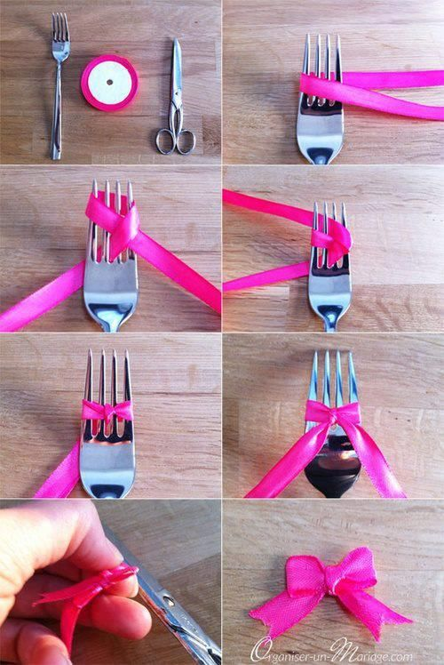 how to make a bow using a fork pictures photos and images for facebook tumblr pinterest and. Black Bedroom Furniture Sets. Home Design Ideas