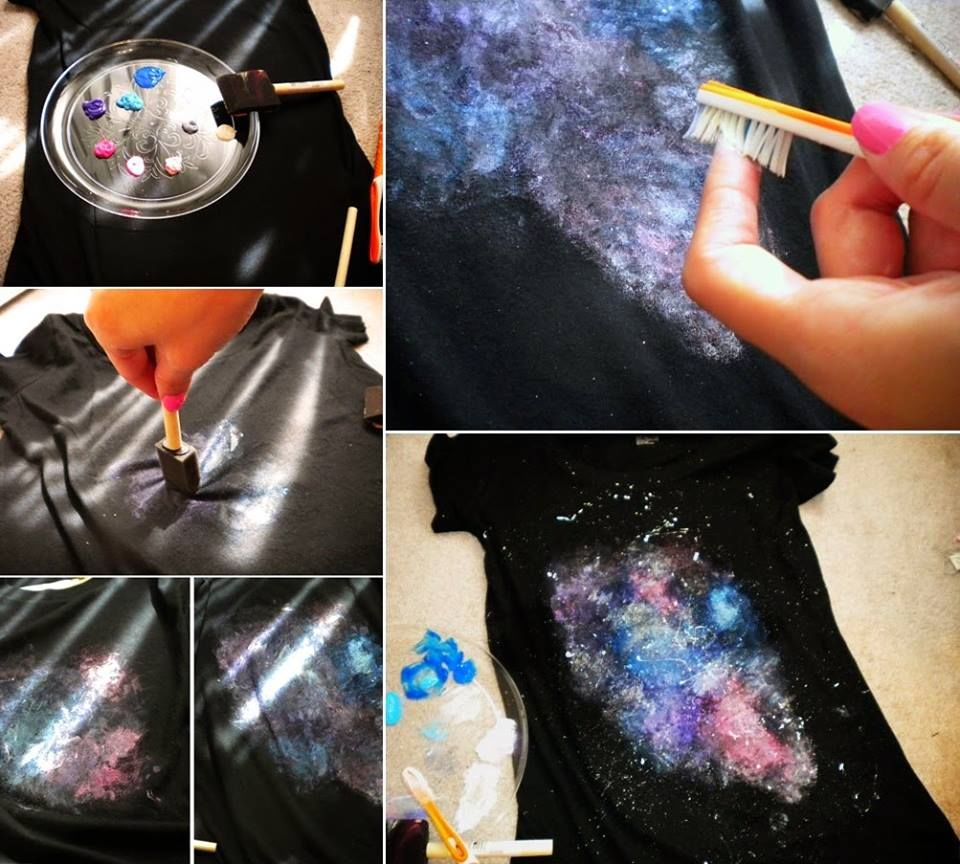 How to make your own galaxy shirt pictures photos and for How to print your own shirt
