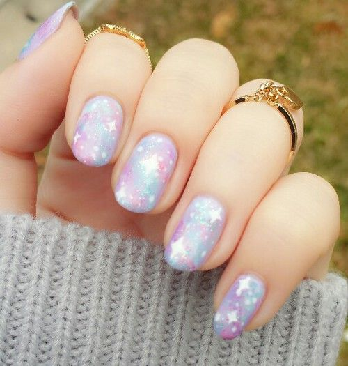 Galaxy Pastel Nails Pictures Photos And Images For