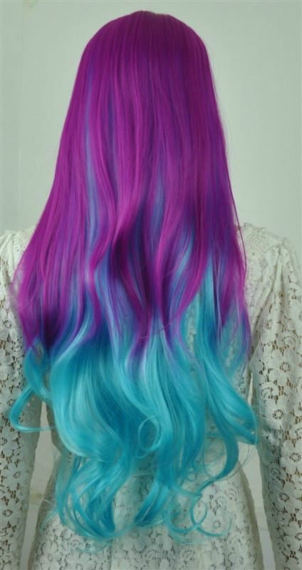 Blue and Purple Ombre Hair Color