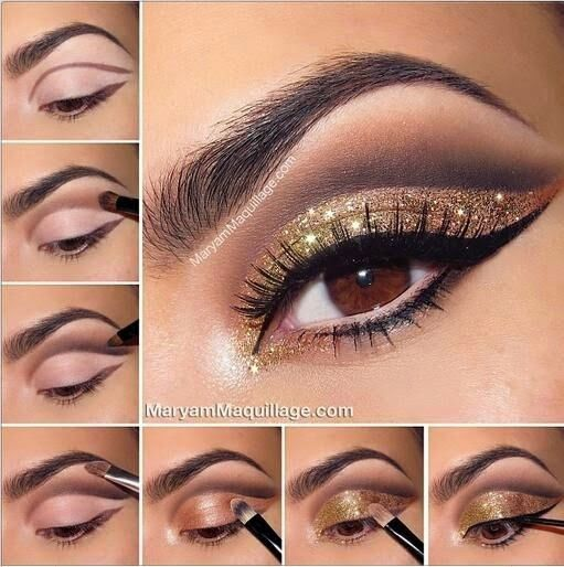Bronze And Gold Smokey Eye For Brown Eyes Pictures, Photos, and ...