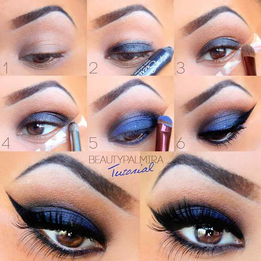 blue eye makeup for brown eyes pictures photos and images for facebook tumblr pinterest and. Black Bedroom Furniture Sets. Home Design Ideas
