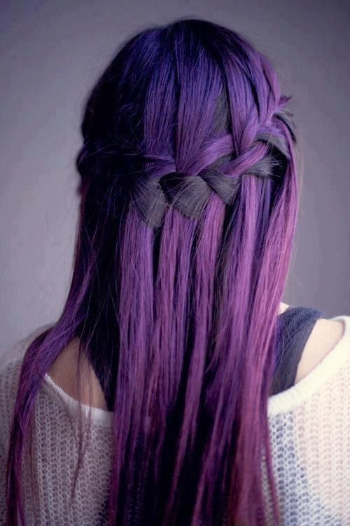 Dark Purple Ombre Hairsyle