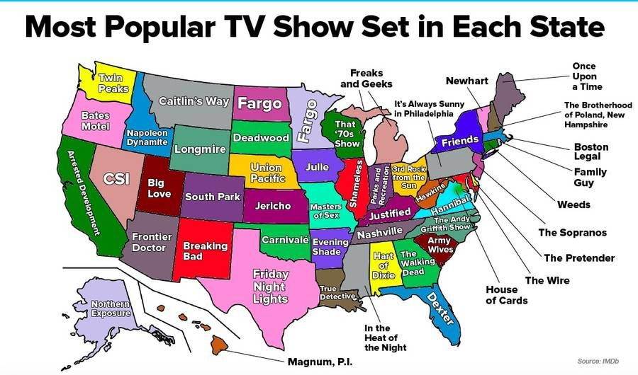 the most popular tv shows in each state pictures photos