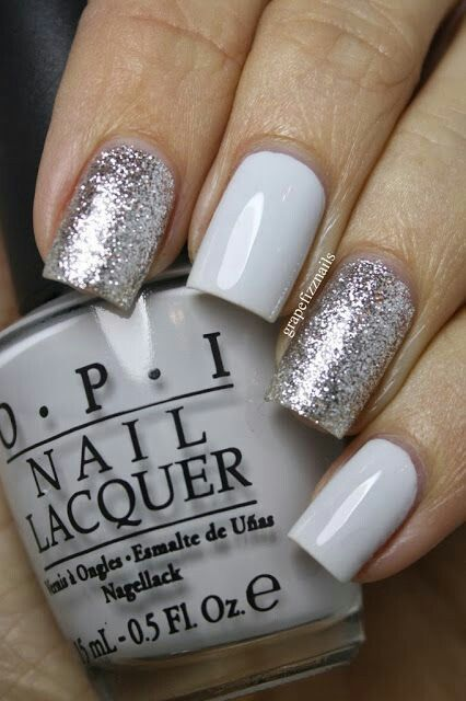 Silver Glitter Nails Pictures, Photos, and Images for ...