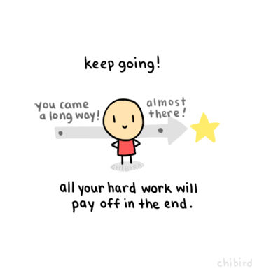 Keep Going 2C All Your Hard Work Will Pay Off In The End on fired
