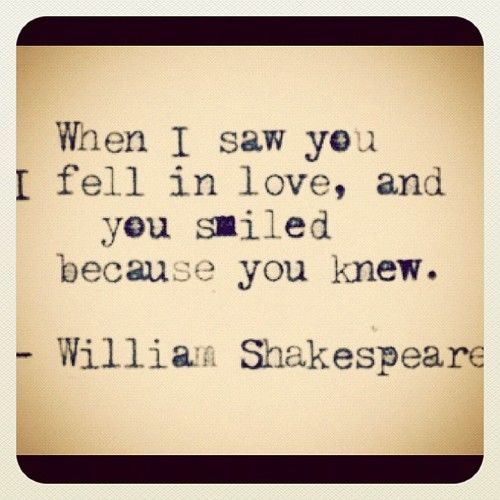 Funny Love Quotes Instagram : When I Saw You I Fell In Love And You Smiled Because You Knew Pictures ...