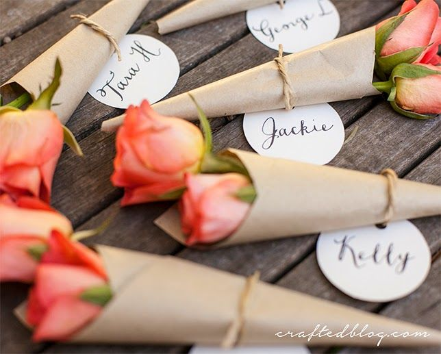 How To Make Wedding Flower Placecards