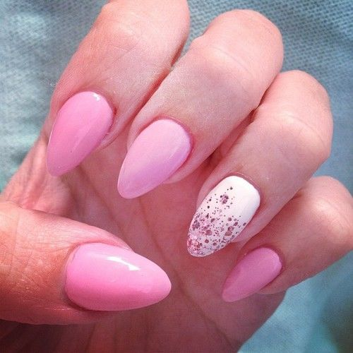 Pink And White Stiletto Nails Pictures, Photos, and Images ...