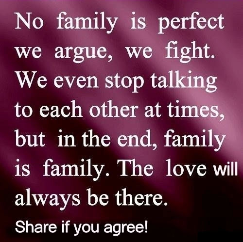 Quotes About Families Coming Together: No Family Is Perfect Pictures, Photos, And Images For