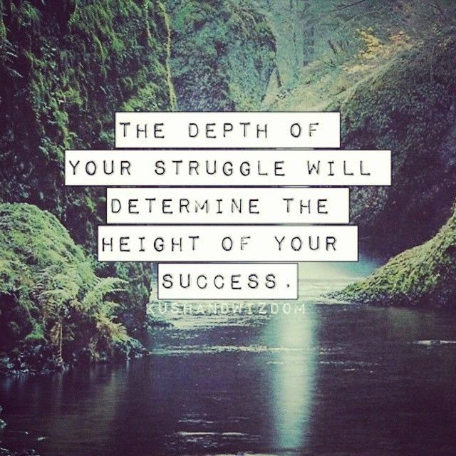 The Depth Of Your Struggle Will Determine The Height Of