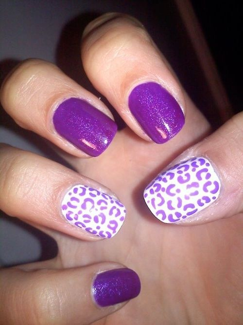 Brand-new Purple Leopard Print Nails Pictures, Photos, and Images for  SV58