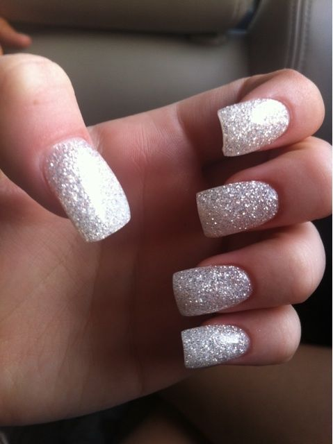 Silver Shimmer Glitter Nails Pictures Photos And Images
