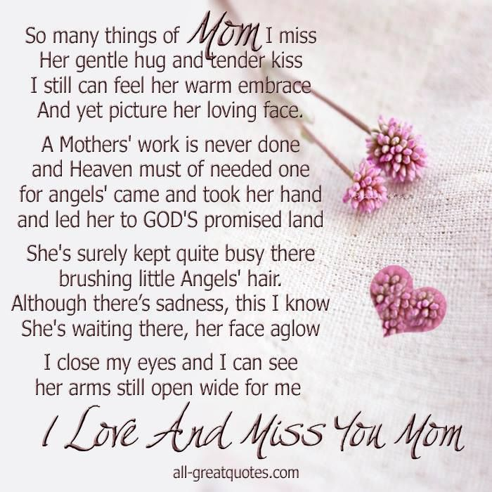 Missing My Mom In Heaven Quotes Mesmerizing I Miss You Mom Pictures Photos And Images For Facebook Tumblr