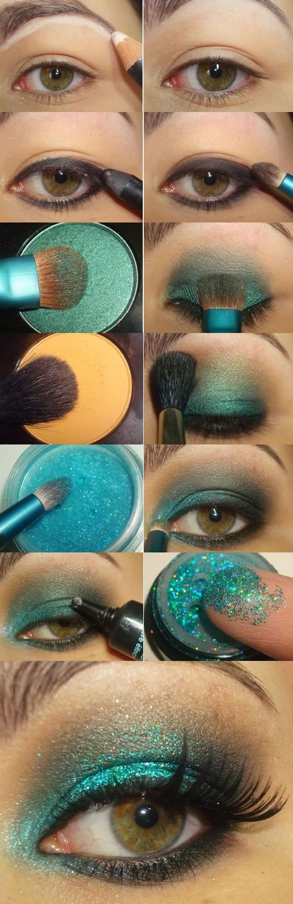 Step By Step Glitter Eye Makeup Tutorial Pictures, Photos ...