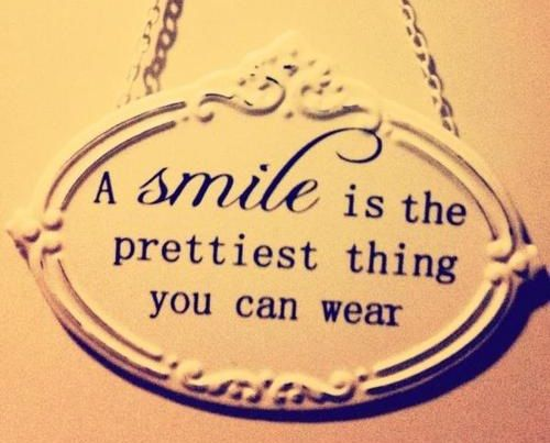 a smile is the prettiest thing you can wear pictures
