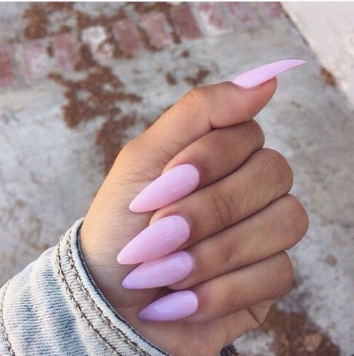 cute pink stiletto nails pictures photos and images for. Black Bedroom Furniture Sets. Home Design Ideas