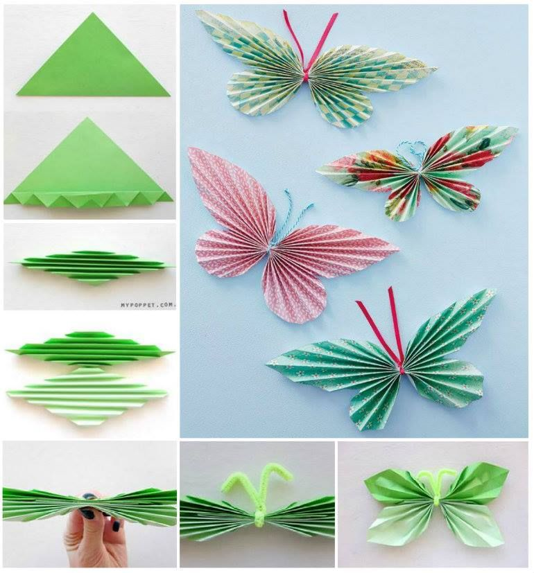 Diy paper butterflies pictures photos and images for for How to make paper things easy step by step