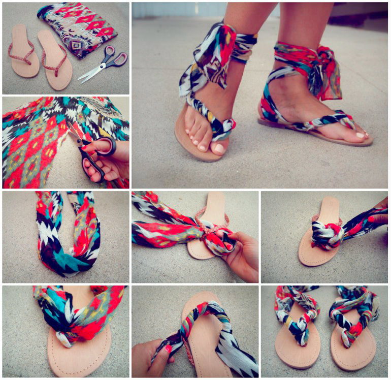 DIY Scarf Ankle Wrap Sandals Pictures Photos And Images