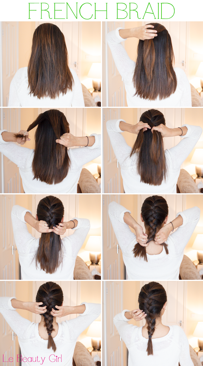 french braid tutorial for medium hair pictures photos