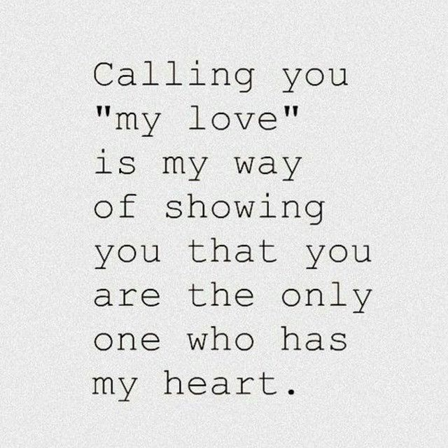 calling you my love