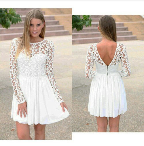 White flower lace dress pictures photos and images for facebook white flower lace dress mightylinksfo