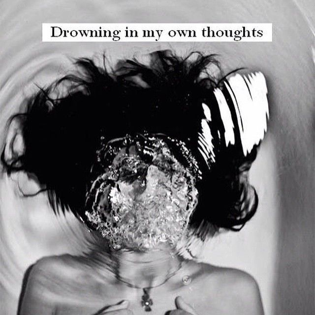 Quotes About Drowning In Depression: Drowning In My Own Thoughts Pictures, Photos, And Images