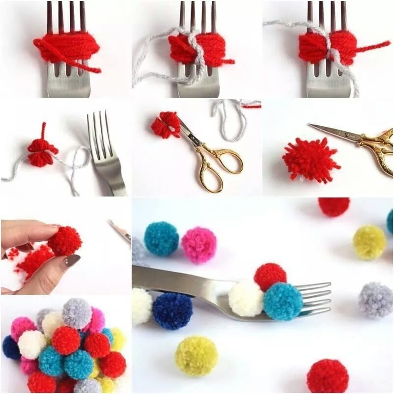 easy diy pom poms pictures photos and images for facebook tumblr pinterest and twitter. Black Bedroom Furniture Sets. Home Design Ideas
