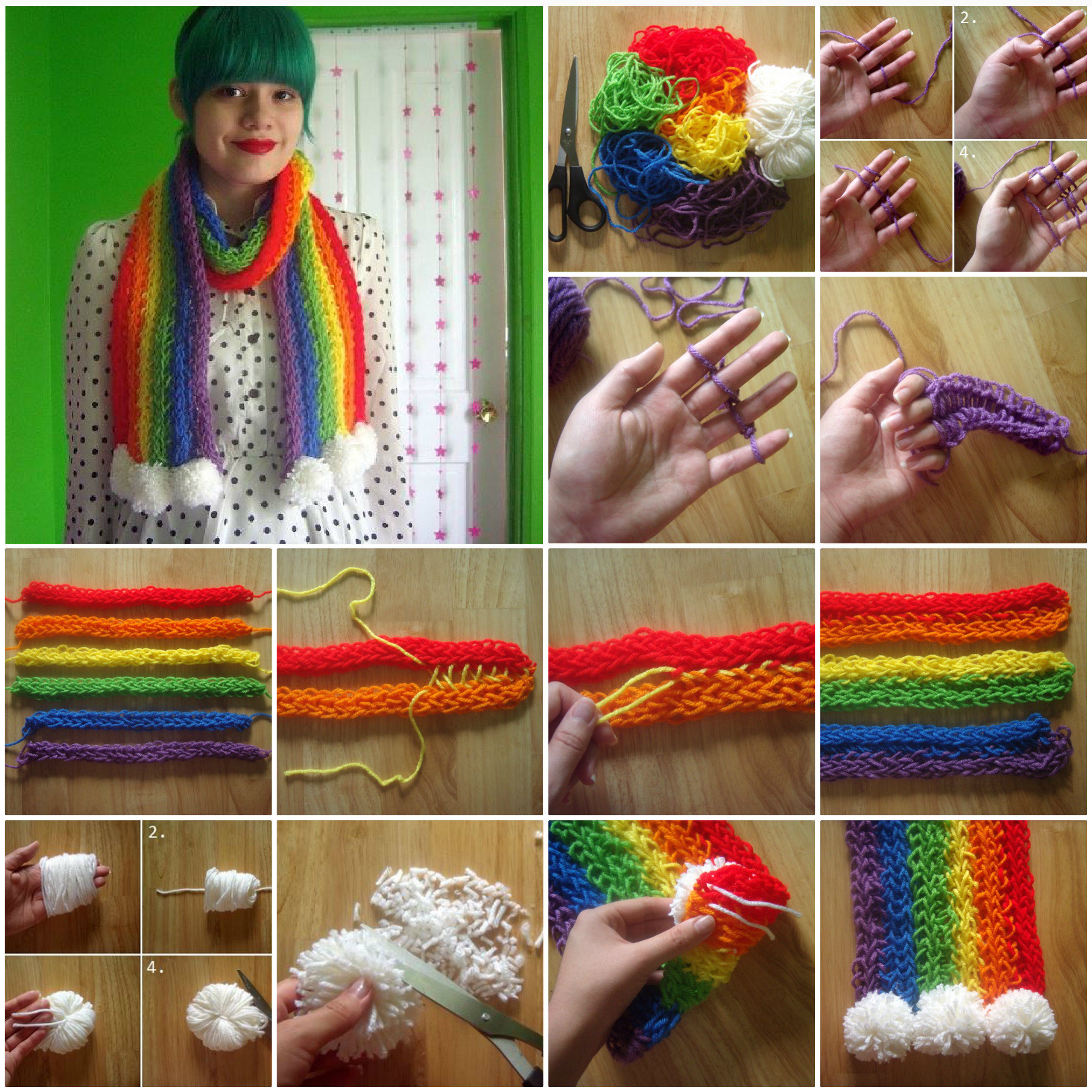 How To Do Knitting Patterns : How To Knit A Scarf With Your Fingers Pictures, Photos, and Images for Facebo...