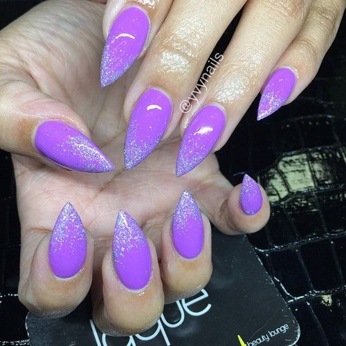 Lilac Glitter Nails Pictures Photos And Images For Facebook