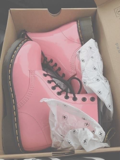 pink and black doc martens
