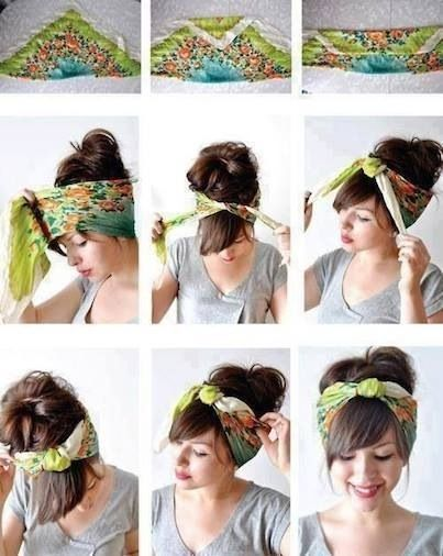 Bandana Hairstyle Tutorial Pictures Photos And Images For Facebook