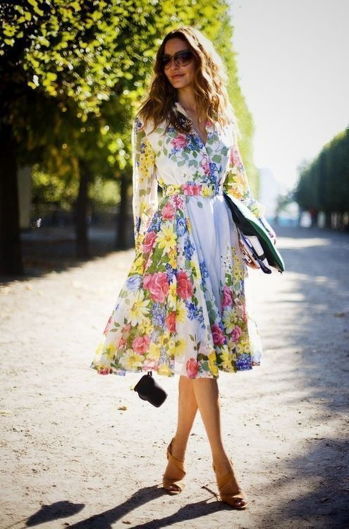 Floral dress street fashion pictures photos and images Fashion street style pinterest