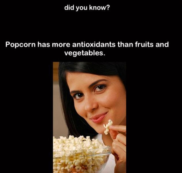 Popcorn Has More Antioxidants Than Fruits And Vegetables ...