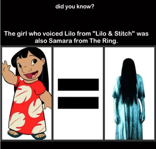 The Girl Who Voiced Lilo From And Stitch Was Also Samara Ring Pictures Photos