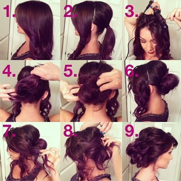 Step By Step Updo Hair Tutorial