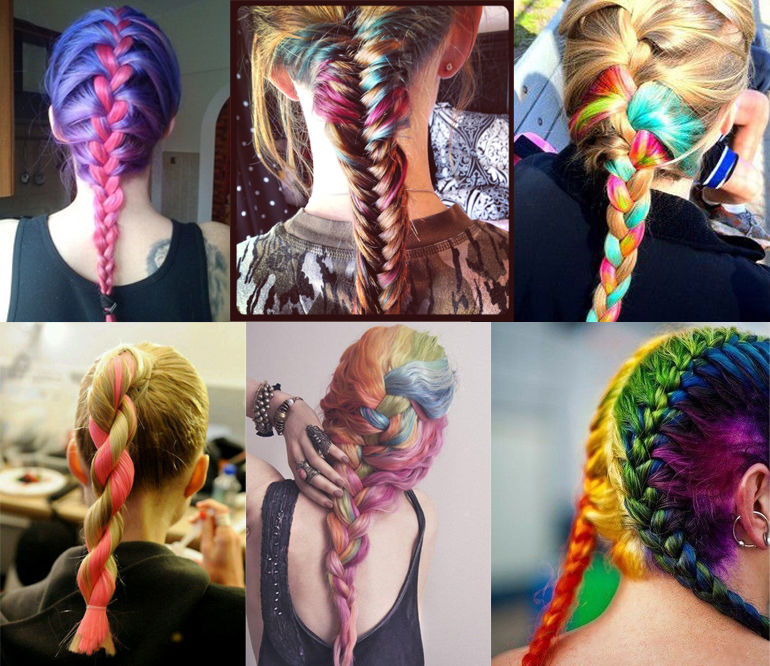 Beautiful Long Ombre Hairstyle With Braids Pictures Photos And