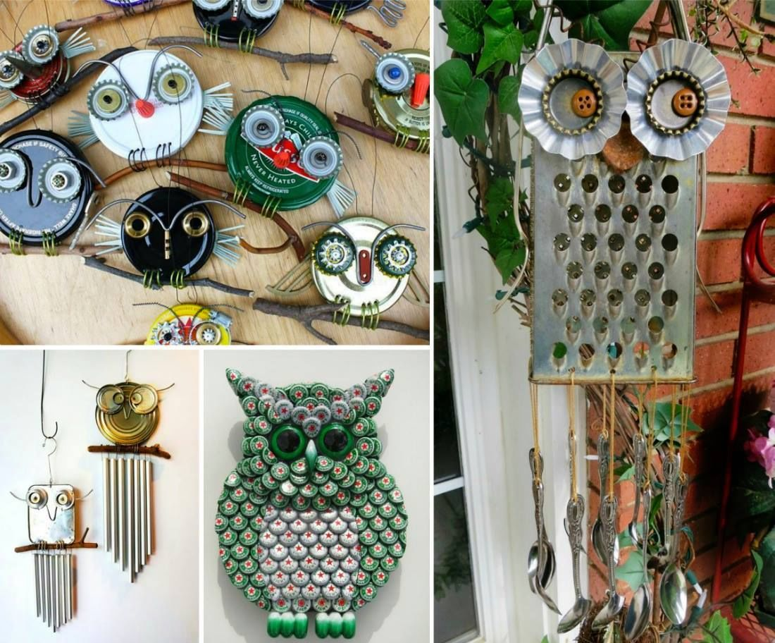 Diy recycled owl art pictures photos and images for for Easy diy recycled projects