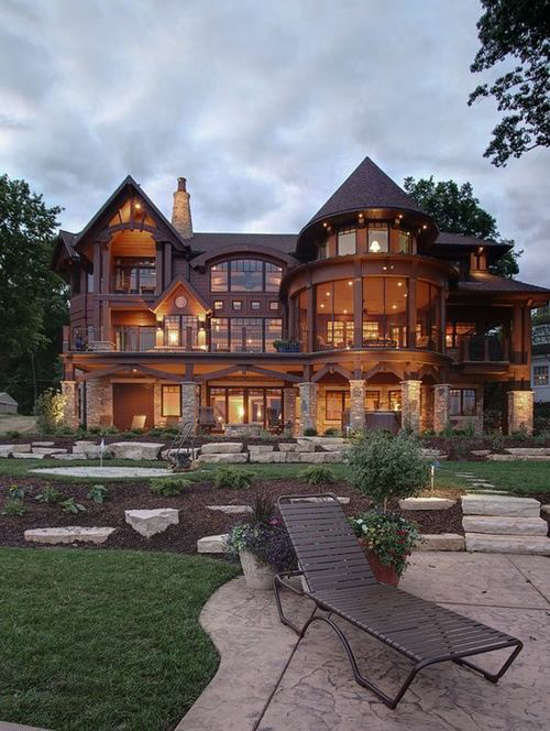 Beautiful mansion pictures photos and images for for Huge modern mansion
