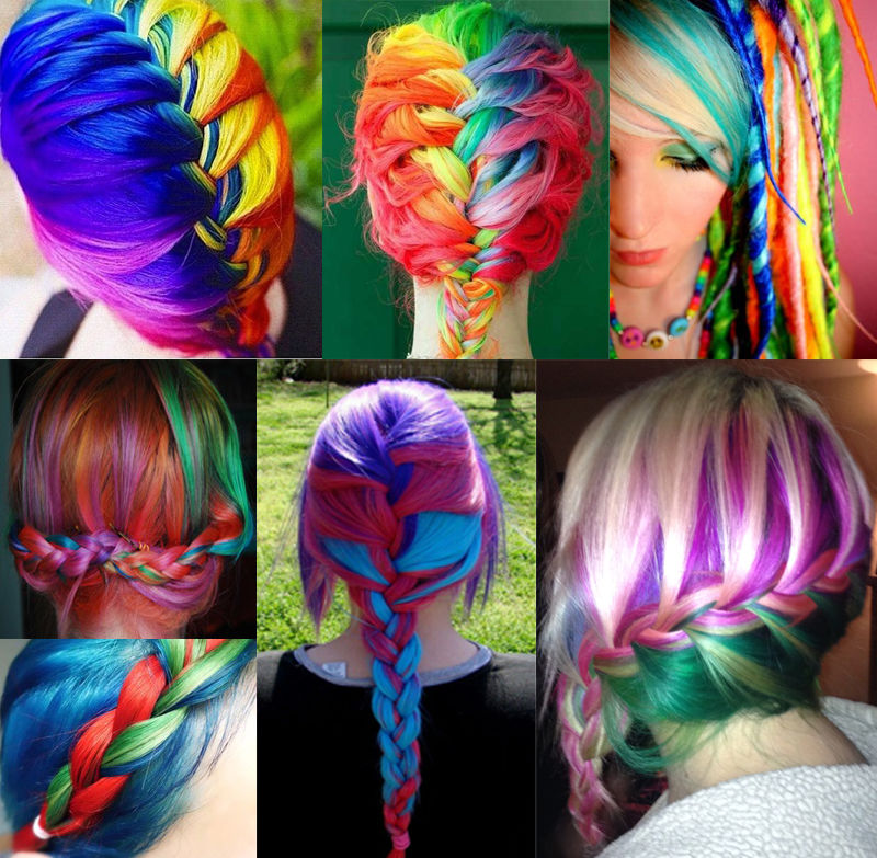 Beautiful Rainbow Hair Pictures Photos And Images For