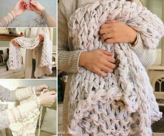 how to arm knit a blanket pictures photos and images for facebook tumblr pinterest and twitter. Black Bedroom Furniture Sets. Home Design Ideas