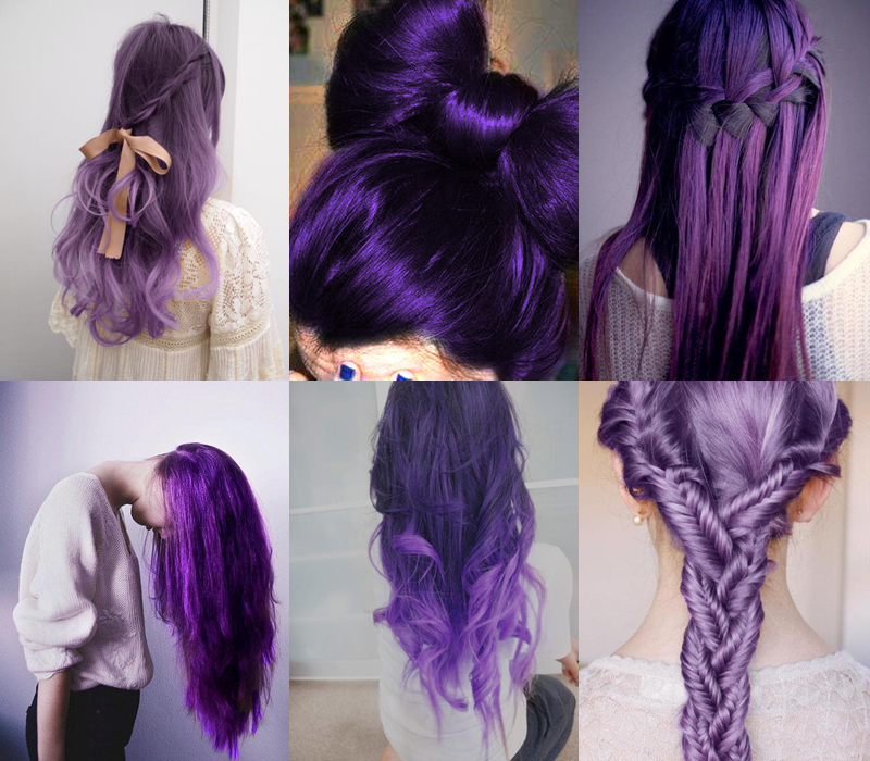 Phenomenal Purple Hairstyles For Long Hair Pictures Photos And Images For Short Hairstyles Gunalazisus