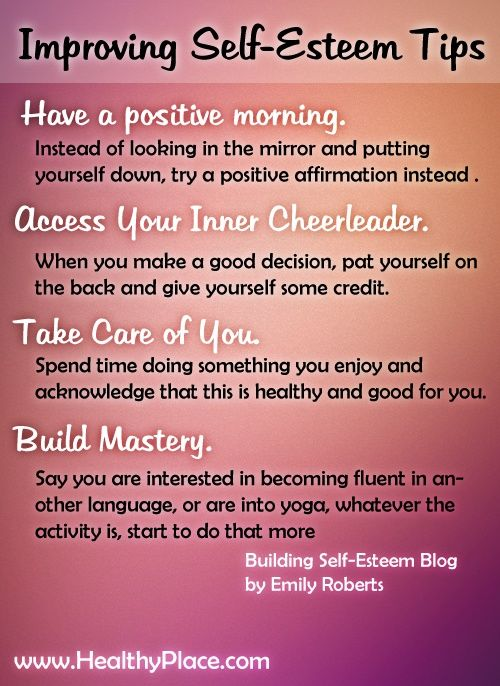How to build strong self esteem